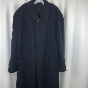 Men's Alfani Size Large Black Trench Coat